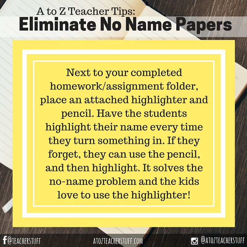 Eliminate No Name Papers